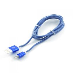 кабель lightning-usb для apple iphone 5, 5c, 5s, 6, 6 plus, 6s, 6s plus, ipad 4, air, air 2, mini 1, mini 2, mini 3 (gembird/cablexpert ccb-apusbb1m) (синий)