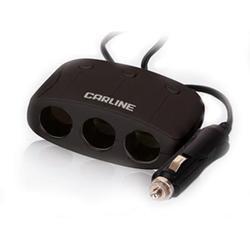 Разветвитель в прикуриватель CARLINE CS320 (черный)
