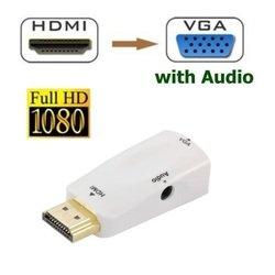 Адаптер HDMI M - VGA 15F + jack 3.5mm (ORIENT C119) (белый)