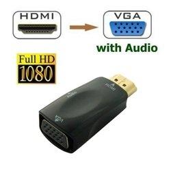 Адаптер HDMI M - VGA 15F + jack 3.5mm (ORIENT C118) (черный)