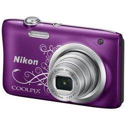 Nikon Coolpix A10 (фиолетовый с рисунком)