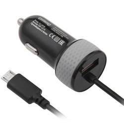 Автомобильное зарядное устройство microUSB-USB (Untamo UESCARM2.1BL) (черный)