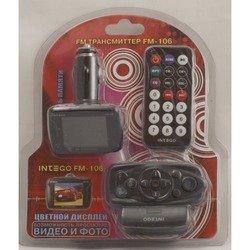 FM-трансмиттер Intego FM-106 (черный)