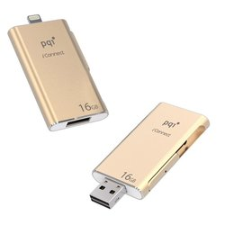 PQI iConnect 16GB (6I01-016GR3001) (золотистый)