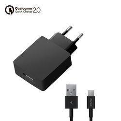 Сетевое зарядное устройство Quick Charge 2.0 (Deppa Ultra 11375) (черный)