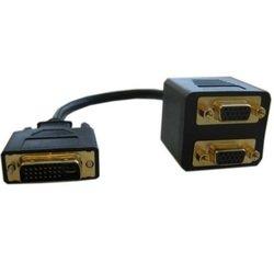 Разветвитель DVI-I 29M - 2хVGA 15F (Espada EDVIM2xVGAF25) (черный)