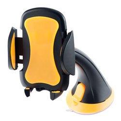 """Автомобильный держатель для смартфона, навигатора до 6.5"""" (Perfeo PH-501) (черно-оранжевый)"""