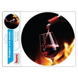 Коврик для мыши Buro BU-T60056 (рисунок вино)