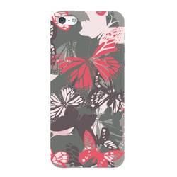 Чехол-накладка для Apple iPhone 5, 5s (Deppa Art Case 100045) (Бабочки, белый)