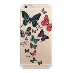 Чехол-накладка для Apple iPhone 6, 6S Plus (Deppa Art Case 100054) (Бабочки, прозрачный)