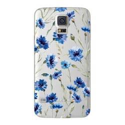 Чехол-накладка для Samsung Galaxy S5 (Deppa Art Case 100108) (Василек, прозрачный)