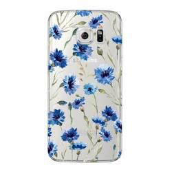 Чехол-накладка для Samsung Galaxy S6 Edge (Deppa Art Case 100120) (Василек, прозрачный)