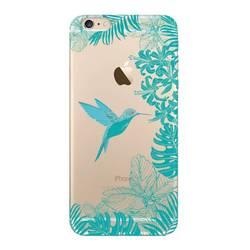 Чехол-накладка для Apple iPhone 6 Plus, 6S Plus (Deppa Art Case 100157) (Колибри, прозрачный)