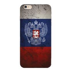 Чехол-накладка для Apple iPhone 6 Plus, 6S Plus (Deppa Art Case 100315) (Флаг, прозрачный)