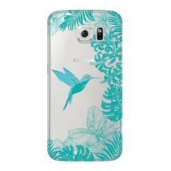 Чехол-накладка для Samsung Galaxy S6 (Deppa Art Case 100169) (Колибри)