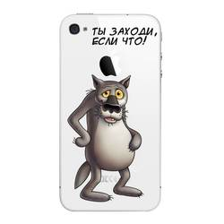 Чехол-накладка для Apple iPhone 4, 4S (Deppa Art Case 100561) (Волк)