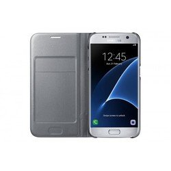 чехол-книжка для samsung galaxy s7 (led view cover ef-ng930psegru) (серебристый)