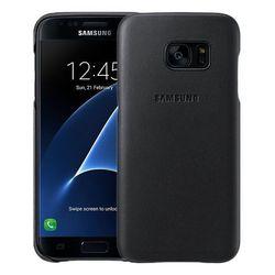Чехол-накладка для Samsung Galaxy S7 (Leather Cover EF-VG930LBEGRU) (черный)