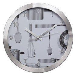 Часы настенные Hama AG-300 (серебристый)