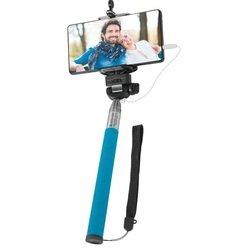 Монопод, палка для селфи Selfie Master SM-02 с проводом (Defender 29404) (голубой)