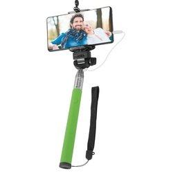 Монопод, палка для селфи Selfie Master SM-02 с проводом (Defender 29403) (зеленый)