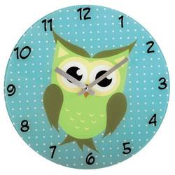 Часы настенные Hama Owl (голубой)