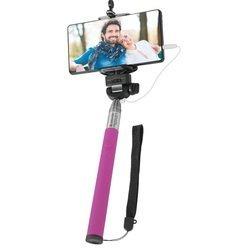 Монопод, палка для селфи Selfie Master SM-02 с проводом (Defender 29405) (розовый)