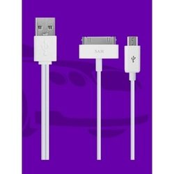 дата-кабель usb-30 pin, microusb для apple iphone 3gs, 4, 4s, ipad, 2, 3 new, ipod nano 6, touch 4 (oxion ox-ucc002wh) (белый)