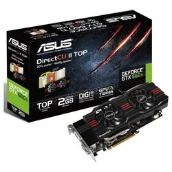 Видеокарта Asus GeForce GTX 660 Ti GTX660TI-DC2T-2GD5 (1059Mhz, PCI-E 3.0, 2048Mb, 6008Mhz, 192 bit, 2xDVI, HDMI, HDCP)