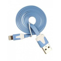 Кабель USB-Lightning для Apple iPhone 5, 5C, 5S, SE, 6, 6 plus, 6S, 6S plus, iPad 4, Air, Air 2, mini 1, mini 2, mini 3, mini 4, PRO 12.9, PRO 9.7 (Oxion OX-DCC007BL) (голубой)