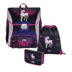 Ранец Step By Step BaggyMax Unicorn (черный, розовый)