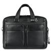 Сумка мужская Piquadro MODUS (CA2849MO, N) (черный) - КожаКожа<br>В этой сумке поместятся все вещи,необходимые для работы/учёбы (в том числе ноутбук). А ещё много сопутствующих аксессуаров,«оснащена» тремя боковыми карманами на молнии, съёмным чехлом для документов, плечевым ремнём,замком и багажной биркой.Телячья кожа высшего качестве с окантовкой.<br>