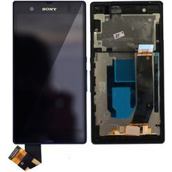 Дисплей для Sony Xperia Z C6603 с тачскрином в рамке полный комплект в сборе (97186) (черный)