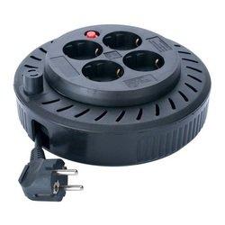 Удлинитель-катушка Sven Spool 3G 4 роз. 5м (черный)