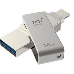 PQI iConnect mini 16GB (6I04-016GR1001) (серый)