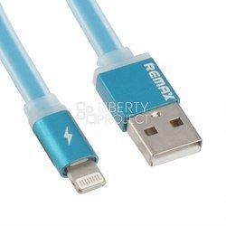 Дата-кабель Lightning - USB для Apple iPhone 5, 5C, 5S, 6, 6 plus, 6S, 6S Plus, iPad 4, Air, Air 2, Pro 9.7, Pro 12.9, PRO, mini 1, mini   2, mini 3, mini 4 (Liberti Project 0L-00027218) (синий)