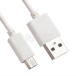 Сетевое зарядное устройство USB, 2A + дата-кабель microUSB (Liberti Project 0L-00027000) (белое)