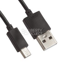 Сетевое зарядное устройство USB, 2A + дата-кабель microUSB (Liberti Project 0L-00026999) (черное)