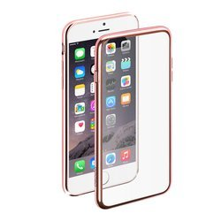 Чехол для Apple iPhone 6, 6S + защитная пленка (Gel Plus Case Deppa 85213) (розовый)