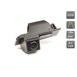 CCD штатная камера заднего вида с динамической разметкой для Cadillac CTS II, SRX II, Chevrolet AVEO II (2012-...), Cruze Hatchback (AVIS AVS326CPR (#010))