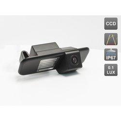 CCD штатная камера заднего вида с динамической разметкой для KIA RIO II (2005-2010) SEDAN, RIO III (2011-...) SEDAN (AVIS AVS326CPR (#036))