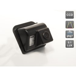 CCD штатная камера заднего вида с динамической разметкой для MAZDA СХ-5, СХ-7, СХ-9, MAZDA 3 HATCHBACK, MAZDA 6 (GG, GY) SEDAN (2002-2008), MAZDA 6 (GH) SPORT WAGON (2007-2012) (AVIS AVS326CPR (#044))