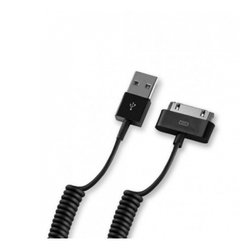 Дата-кабель USB-30-pin для Apple iPhone 3GS/4/4S, iPad/2/3 new, iPod Nano 6/touch 4 MFI, 1.5м, витой (Deppa 72129) (черный)