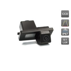 CCD штатная камера заднего вида с динамической разметкой для SSANGYONG REXTON, KYRON, ACTYON SPORTS (AVIS AVS326CPR (#078))