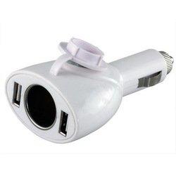 Универсальный автомобильный адаптер питания с прикуривателем OXION OX-AC006WH (89497) (белый)