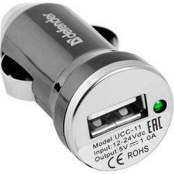 Автомобильное зарядное устройство Defender UCС-11 + кабель USB - microUSB (152546)