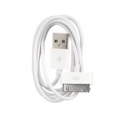 кабель 30pin-usb для apple iphone 3gs,4,4s, ipad,2,3 new, ipod nano 6, touch 4 (oxion ox-dcc001wh) (белый)