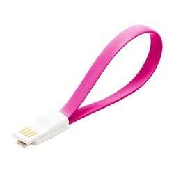 Дата-кабель USB-microUSB (Smartbuy iK-02m) (розовый)