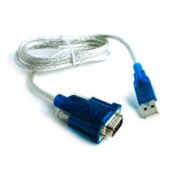 Переходник USB-COМ (CBR СВ-232) (серебристо-синий)