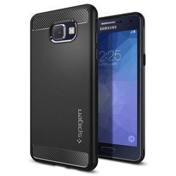 Чехол-накладка для Samsung Galaxy A5 2016 Spigen Case Rugged Armor (SGP11834) (черный)